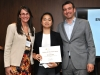 10 2016 EWB Leader for the Future Christine Bui receives award from Marisa Sterling and Boris Martin